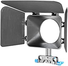 Neewer Plastic 15 mm Rail Rods Matte Box for Canon Nikon Sony Fujifilm Olympus Panasonic DSLR Camera,Camcorder Video Movie Film Making System(Blue)
