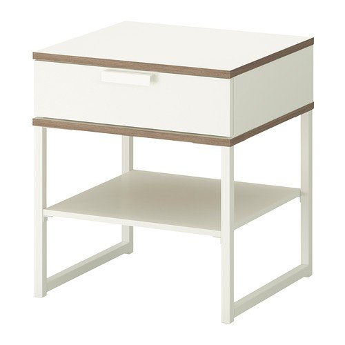 Ikea TRYSIL - nachtkastje, wit, lichtgrijs - 45x40 cm