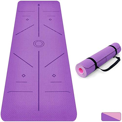 Oudort Non Slip Yoga Mat with...