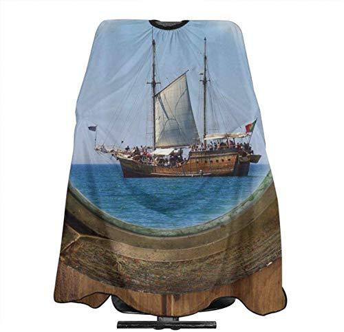 Kapsel Cape Rustieke Piraat Schort Porthole Zeeman Kapper benodigdheden Gereedschap Set Salon Haar Snijden Doek Schort Cape Kapper Capes 55 X 66 in