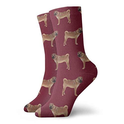 Sharpei Dog Design Pet - Calcetines cortos de algodón para adultos, para...