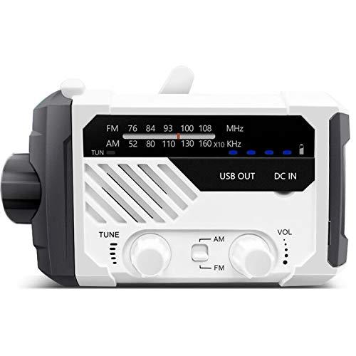 NAGI一年保証 防災ラジオ 手回し充電ラジオ 災害グッズ ラジオライト PSE FCC EMC RoHs 四重認証 懐中電灯 USB充電 乾電池対応 手回し充電 ソーラー充電 電池残量表示 iPhone Androidスマホ充電可能 AM/FMワイド対応
