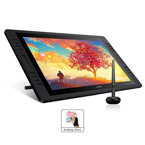 HUION KAMVAS Pro 20 Grafiktablett mit Display 19,5-Zoll Bildschirm-HD-Stift-Display Batteriefreier Stift, 16 Tastenkombinationen und 2 Touch-Leisten Ideal für Home-Office & E-Learning