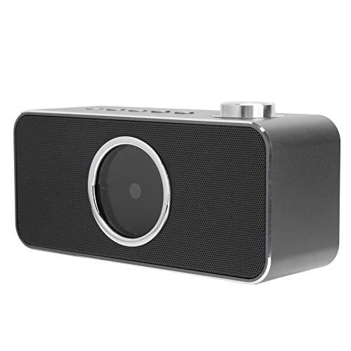 Altavoz Bluetooth inalámbrico, Mini altavoz despertador inteligente, Altavoces portátiles USB Bluetooth, Altavoces estéreo para teléfonos, tabletas, computadoras portátiles, tiempo de carga 4-5 horas