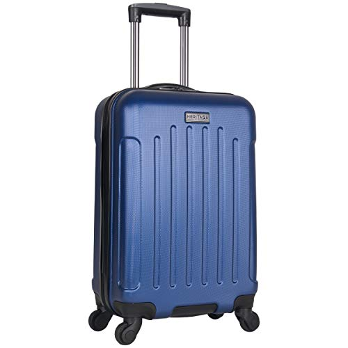 Heritage Travelware Lincoln Park 20' Hardside 4-Wheel Spinner Carry-on Luggage, Cobalt Blue