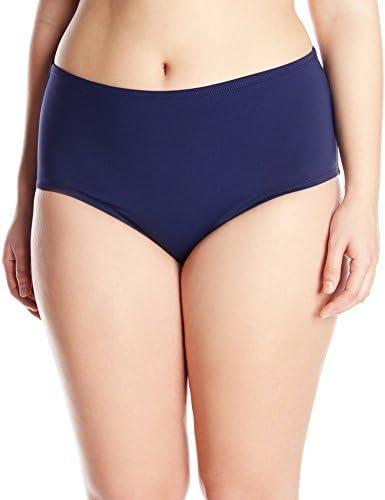 Anne Cole Women's Plus-Size Solid High-Waist Tummy Control Bikini Bottom