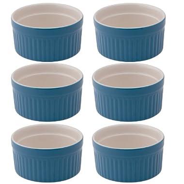 Mrs. Anderson's Baking Ramekin, Ceramic Earthenware, Blueberry, 2.5-Inch, 2-Ounce Capacity