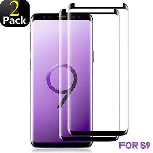 Preisvergleich Produktbild Phonis Panzerglas für Samsung Galaxy S9, 3D Vollständigen Abdeckung, 9H Härtegrad, Anti-Kratzen, Anti-Bläschen, Hülle Freundllich, Perfekt Schutzfolie für Galaxy S9 - Schwarz