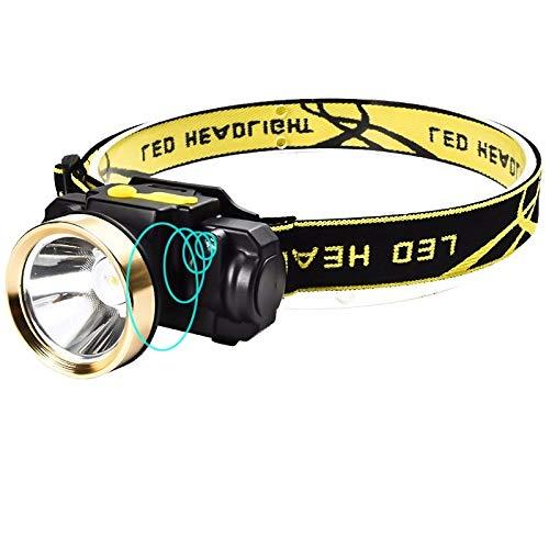 SHIYIMY Linternas Frontales Sensor de Movimiento LED Faro Riding Faro Recargable Camping al Aire Libre Cabeza de la Linterna antorcha lámpara con USB iluminación (Emitting Color : Green)
