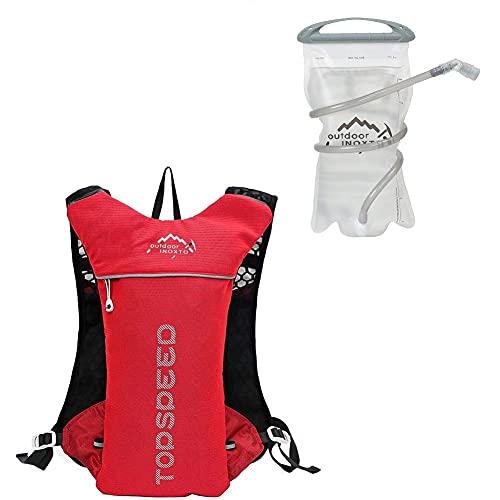 WFIT La Bolsa De Agua De 1,5 L De Agua Bolsa De Deportes Al Aire Libre Mochila Hidratación Hidratante De Bicicletas Mochila Roja