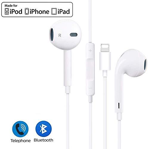 ILELM In-Ear Kopfhörer für iPhone 11 Kopfhörer mit reinem Sound und kraftvollem Bass, integriertes Mikrofon und Lautstärkeregler, kompatibel mit iPhone 11/XR/XS Max/X/8/7, unterstützt alle iOS Systeme