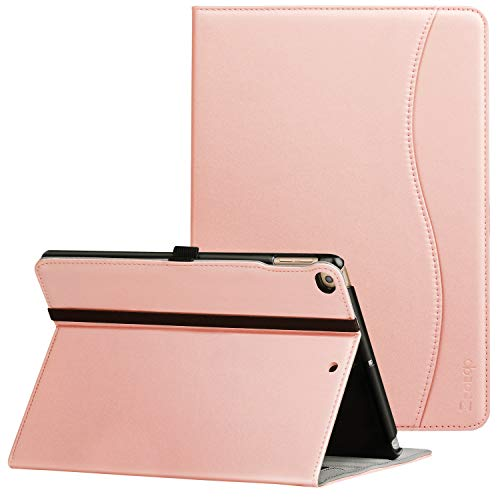 ZtotopCase Custodia per iPad 9.7 2017 2018, Cuoio Premium Affari Sottile Cover per Nuovo iPad Tablet con Auto Wake & Sleep Funzione e Slot per schede Documenti,angolazioni Multiple Smart Cover,Rosa