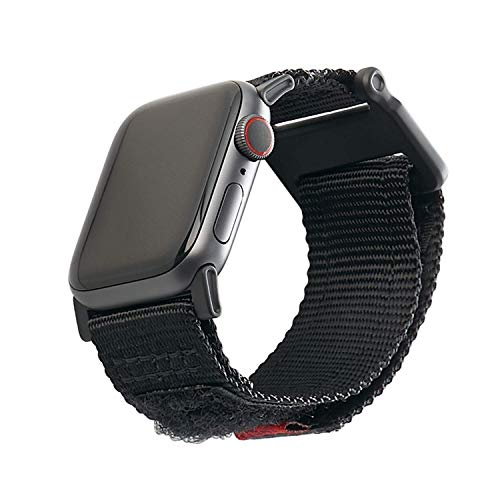 apple watch series 6 price drops as low as 339 today only URBAN ARMOR GEAR UAG Compatible Apple Watch Band 44mm 42mm, iWatch Series 6/5/4/3/2/1 & Watch SE, High Strength Nylon Weave Replacement Strap, Active Black