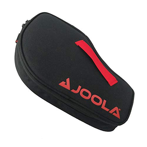 JOOLA Vision Double Padded Ping Pong Paddle Case w/Storage Compartment for 4 Ping Pong Balls - Table Tennis Case Racket Cover Helps Protect The Table Tennis Rubber and Racket - Table Tennis Organizer
