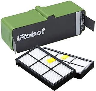 【純正品】アイロボット ルンバ リチウムイオンバッテリー と 800,900シリーズ互換フィルター(2個)セット 4462425
