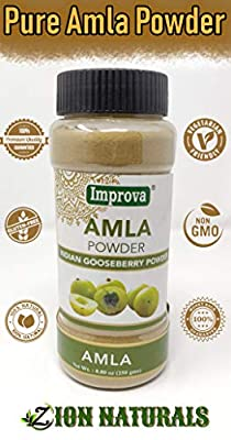 Amla Berry Powder | 100% Pure | Amalaki | Indian Gooseberry | Premium Quality | 8.80 Oz (250gm) | Amla Powder | Herbal Supplement | Natural Antioxidant | Flavonoids | Non-GMO | Sold By Zion Naturals !