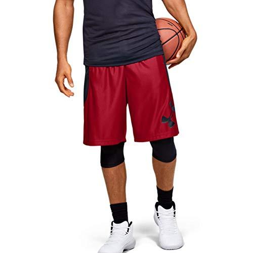 Under Armour Herren Perimeter Basketball-Shorts, Herren, Shorts, Perimeter Basketball Short, Rot (600)/Schwarz, Large