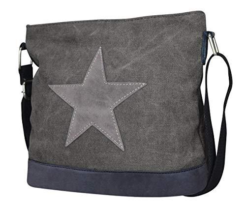 PiriModa Damen Stern Handtasche Schultasche Clutch TOP TREND Tragetasche (Modell 3 Dunkelgrau)