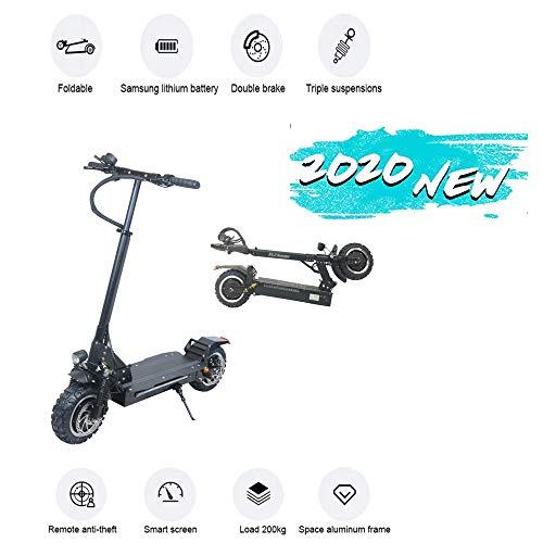 3200W 2 motoren E-scooter maximumsnelheid 65 km/u elektrische step voor pendelaars, stad, met 11 inch opblaasbare wielen met LED-indicator voor volwassenen, inklapbare elektrische scooter
