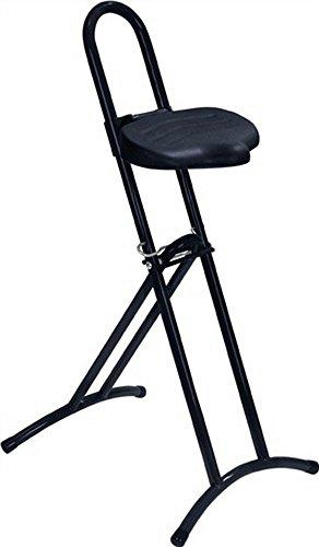 LOTZ Stehhilfe Gestell u. Sitz schwarz Raster-Höhenverstellung