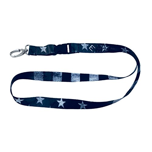 Shadow Old Glory USA Flag Lanyard - Detachable Buckle and Upgraded Clasp for Keys, ID Card, Name Holder, etc.