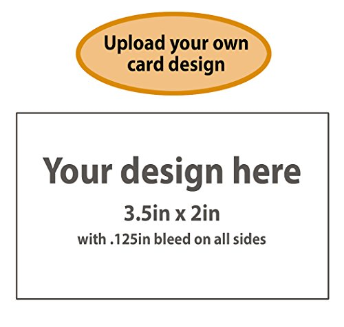 Buttonsmith Custom Business Cards - Double-sided, 110 lb Smooth Touch