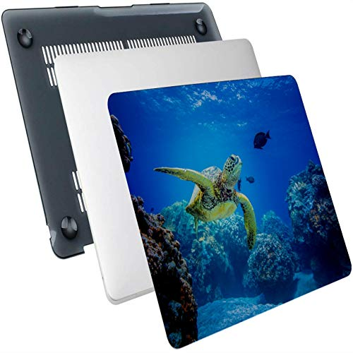 Mac Book Accessories Flexible Turtle In Blue Ocean Plastic Hard Shell Compatible Mac Air 13' Pro 13'/16' 15 Inch Laptop Cover Protective Cover For Macbook 2016-2020 Version