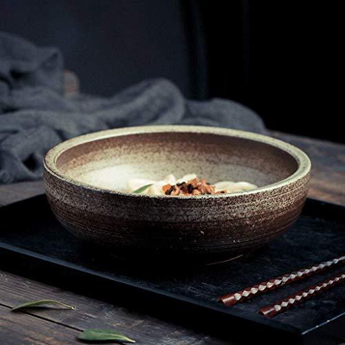 JUNYYANG Tazón de cerámica Japonesa Creativa Vajilla Ensalada Grande Sopa de Fideos Plato Principal Personalizada