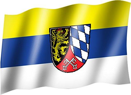 Sportfanshop24 Flagge/Fahne OBERPFALZ Staatsflagge/Landesflagge/Hissflagge mit Ösen 150x90 cm, sehr Gute Qualität