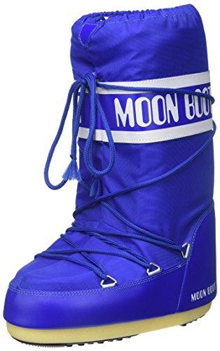 Moon Boot Nylon, Stivali da Neve Unisex Adulto, Blu (Blu Elettrico), 39/41 EU