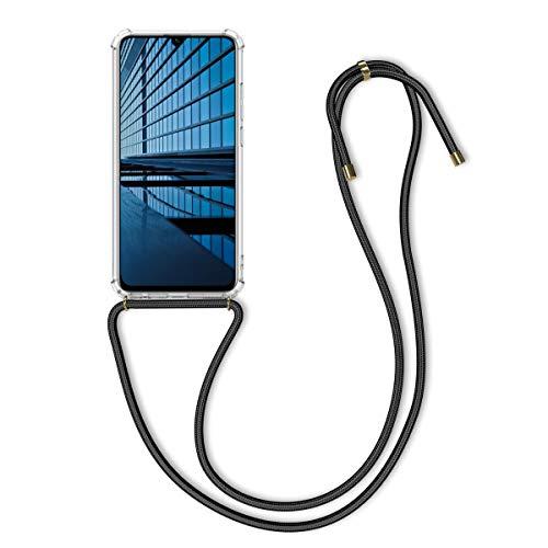 kwmobile Huawei Honor 10 Lite Hülle - mit Kordel zum Umhängen - Silikon Handy Schutzhülle für Huawei Honor 10 Lite - Transparent