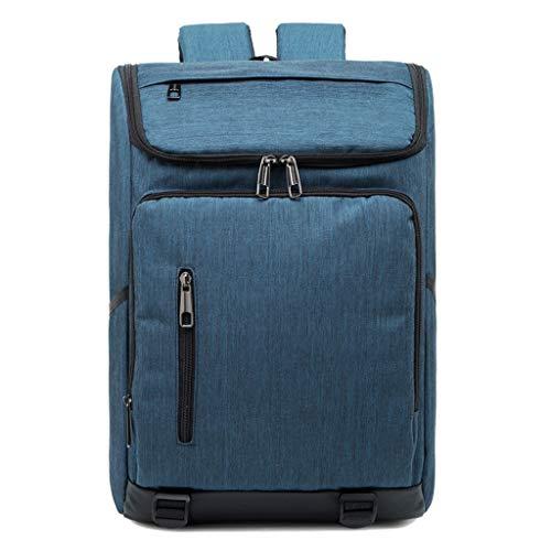 多機能トラベルバッグユニセックスファッションメンズバックパックオックスフォード布防水ビジネスバックパック HMMSP (Color : Blue)