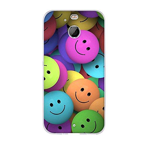 FUBAODA Hülle für HTC 10 EVO/für HTC Bolt, Lustige Zeichnung Design[Smiley-Gesicht],Langlebige Ultra Dünn Schutzhülle- Staub & Scratch- Stoßfest TPU Handyhülle für HTC 10 EVO/für HTC Bolt(5.5