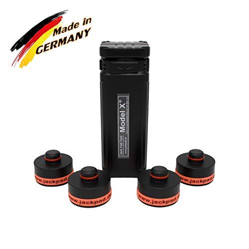 werkzeugbude24 Original jackpad® Wagenheber Adapter passend für Tesla Model X - (4 in a Box - eckig) - !!! Kein Gummiadapter !!!