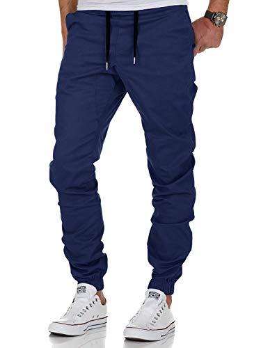 AitosuLa Herren Jogginghose Baumwolle Freizeithose Sport Slim Fit Trainingshose Sweatpants Jogger Pants (Marine, X-Large)