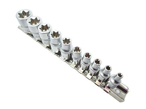 E型トルクスソケットセット 星型 花型 ソケットレンチ 雌トルクス E4 E5 E6 E7 E8 E10 E12 E14 E16 E18 ネジ 外し 規格 種類 1年保証