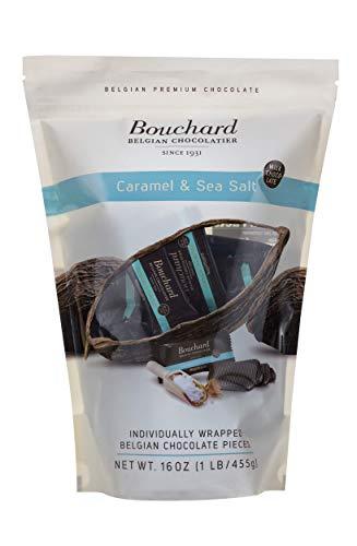 Bouchard Belgian Milk Chocolate with Caramel & Sea Salt (16 OZ / 1 LB)…