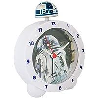 Zeon 10645 - Reloj despertador, replica R2D2 de Star Wars, con luz y sonido Sobremesa, 0.25 cm
