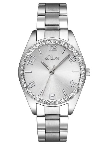 S.Oliver Damen Time Quarz Armbanduhr SO-2276-MQ