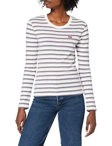 Levi's LS Baby Tee T-Shirt, Berimbao Lavender Frost, S Donna