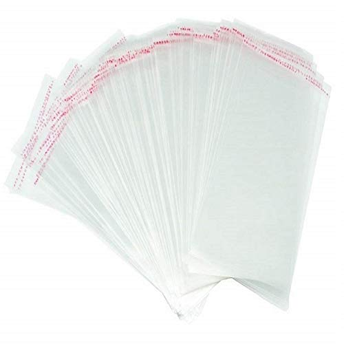 200 Pcs 5 ¼ x 7 ¼ Inches Clear Resealable Cello/Cellophane Bags Self Adhesive Sealing, Good for 5x7 Prints Cards Photos Envelopes (Fit A7, 5.25 x 7.25 Inches Invitation Envelope)