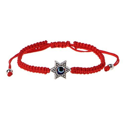 GUOjianhui de Pulseras de Cadena de Hamsa de la Suerte Rojo de Cábala