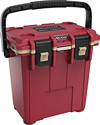 Pelican Elite 20 Quart Cooler (Canyon Red/Coyote), Multi (20Q-7-CNREDCOY)