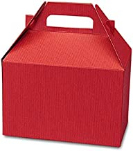 Cardboard Red Large Gable Boxes, 9 X 6 X 6 - Bakery Boxes - 10 each by Paper Mart