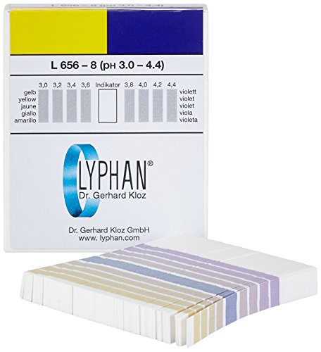 neoLab 3-3801 pH-Indikatorpapiere Lyphan, 0,2 pH, 3,0-4,4 pH (200-er Pack)