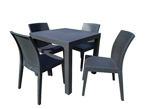 Dimaplast2000 Colorado Patio Set Giardino, Antracite