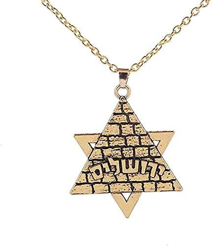 CCXXYANG Co.,ltd Collar Collar De Estrella De David De Pirámides Egipcias, Joyería Vintage, Encantos Sobrenaturales, Fabricación De Collares para Mujeres Y Hombres, Regalos