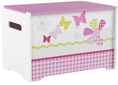 Schmetterlinge und Blumen - Spielzeugkiste für Kinder – Aufbewahrungsbox für das Kinderzimmer - 5