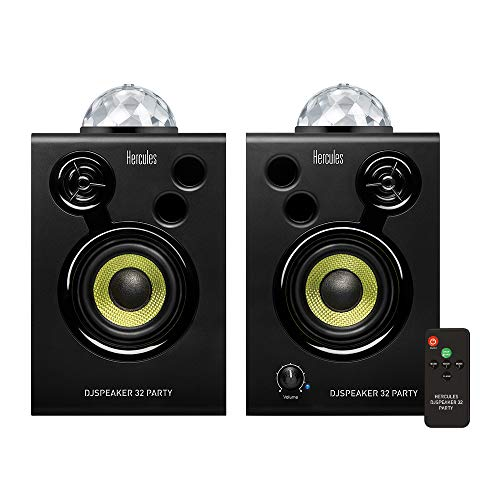 Hercules DJSpeaker 32 Party: 2 x 15 Watt aktive Monitor-Lautsprecher mit integrierter Beleuchtung