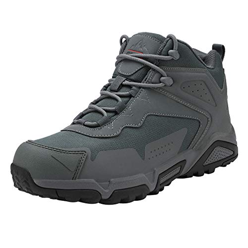NORTIV 8 Men's Waterproof Hiking Boots Lightweight Mid Ankle Trekking...